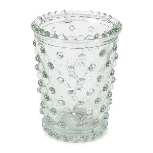kleines-teelichtglas-vaschen-mit-punkten-80-mm