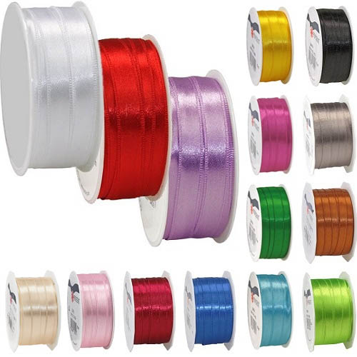 10 Meter Satin Band in 18 Farben, 10 mm