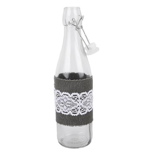 glas vase flasche mit spitze und b gelverschluss 27 cm. Black Bedroom Furniture Sets. Home Design Ideas