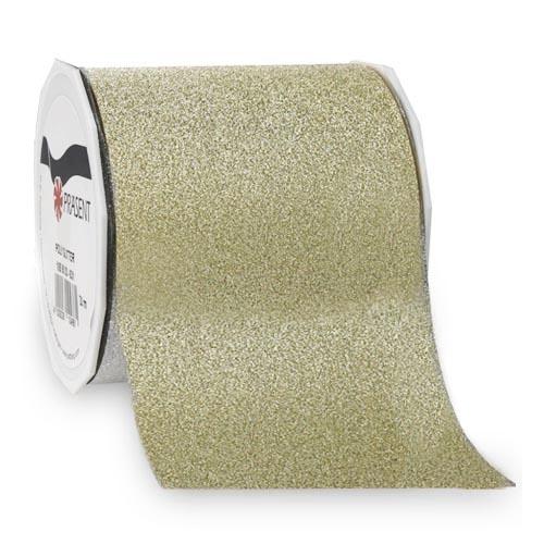 20 meter tischband weihnachten glitter in gold 90 mmbei. Black Bedroom Furniture Sets. Home Design Ideas
