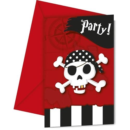 6er-pack-einladungskarten-pirates-comeback-mit-umschlag