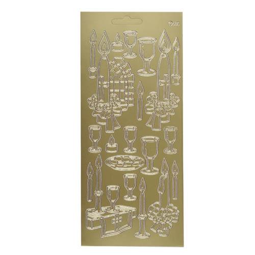 klebe-sticker-konturen-abendmahl-in-gold