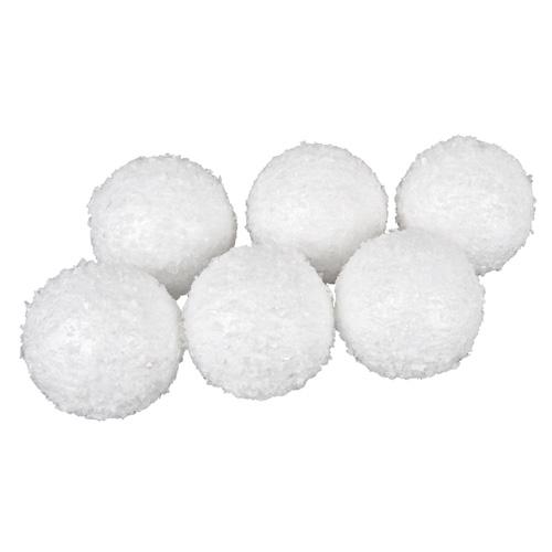 6 gro e deko schneeb lle als tischdeko oder zum aufh ngen 80 mm. Black Bedroom Furniture Sets. Home Design Ideas