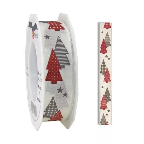 20-meter-weihnachtsband-geschenkband-tannenbaum-in-bordeaux-grau-25-mm