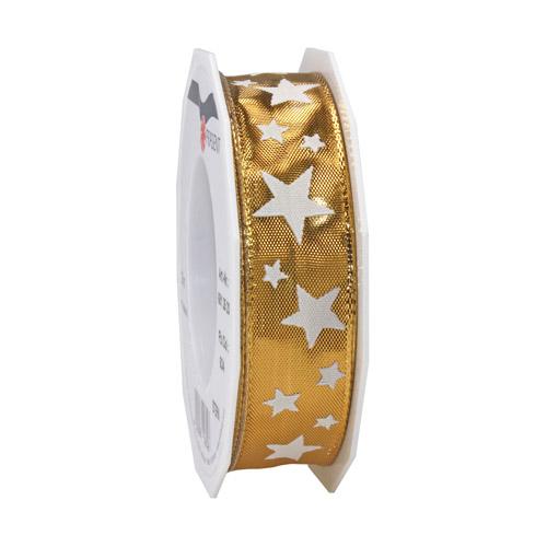 20-meter-tischband-geschenkband-stern-in-gold-wei-25-mm