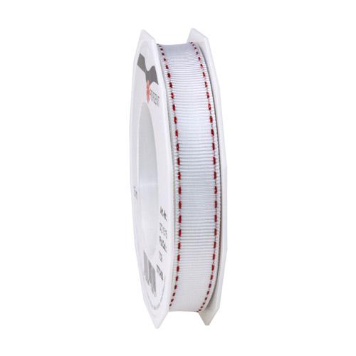 15-meter-tischband-geschenkband-stitches-in-wei-rot-metallic-15-mm