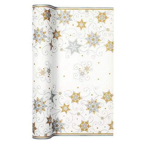 4 9 meter airlaid papier tischl ufer stars and swirls. Black Bedroom Furniture Sets. Home Design Ideas