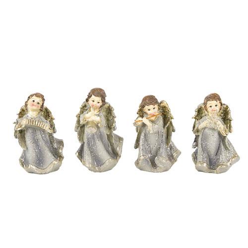 4-teiliges-engel-orchester-in-grau-gold-glitzernd-80-mm
