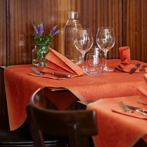 duni dunilin servietten royal mandarin 40 x 40 cm. Black Bedroom Furniture Sets. Home Design Ideas