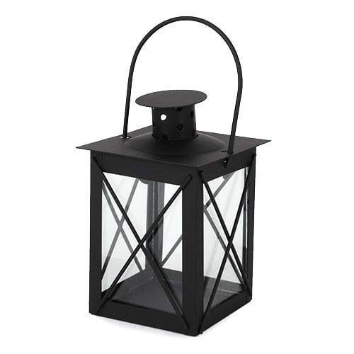 garten oder tischdeko metall laterne in schwarz 12 cm. Black Bedroom Furniture Sets. Home Design Ideas