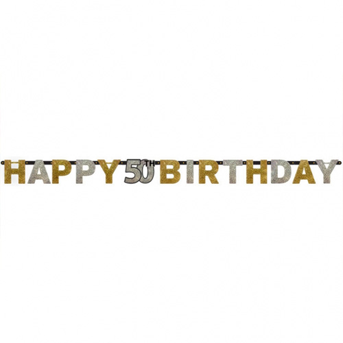 2-meter-glimmer-partykette-geburtstag-happy-50th-birthday-, 4.95 EUR @ tafeldeko-de