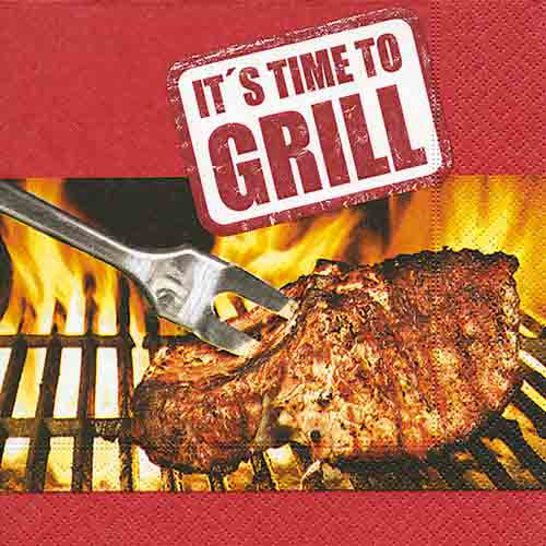 20er Pack Servietten Time to Grill, 33 x33 cm