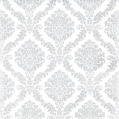 20er-pack-servietten-elegante-ornamente-in-silber-33-x-33-cm