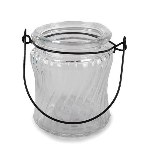 glas windlicht retro mit henkel nr 1 90 mm. Black Bedroom Furniture Sets. Home Design Ideas