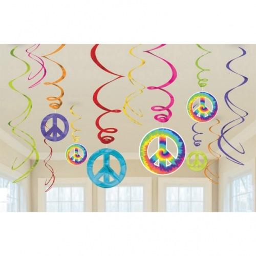 12-tlg-party-raumdekoration-spiralen-set-flower-power-hippie-60er-jahre