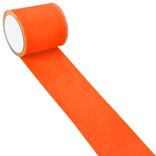 5 Meter Filzband breit in Orange, 10 cm