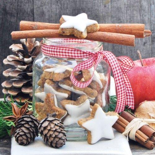 20er pack servietten weihnachtspl tzchen zimtsterne 33 x 33 cm - Duni weihnachtsservietten ...