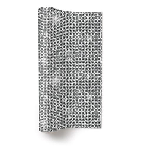 4 meter papier tischl ufer pailletten discokugel silber 32 5 cm. Black Bedroom Furniture Sets. Home Design Ideas