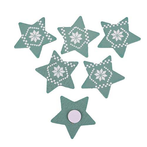 6-holz-sterne-mit-weihnachtsmuster-und-klebepunkt-in-mint-wei-35-mm