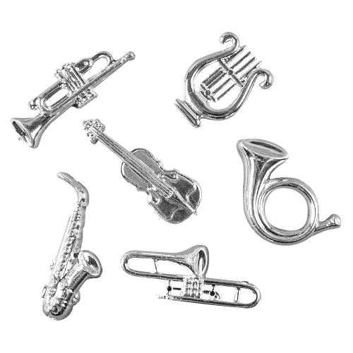 6-streudeko-musikinstrumente-in-silber-40-mm