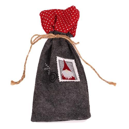 geschenkbeutel-weihnachten-nikolaus-in-grau-meliert-32-cm, 5.95 EUR @ tafeldeko-de