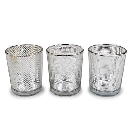 3er-set-teelichtglaser-linien-verspiegelt-in-silber-klar-65-mm