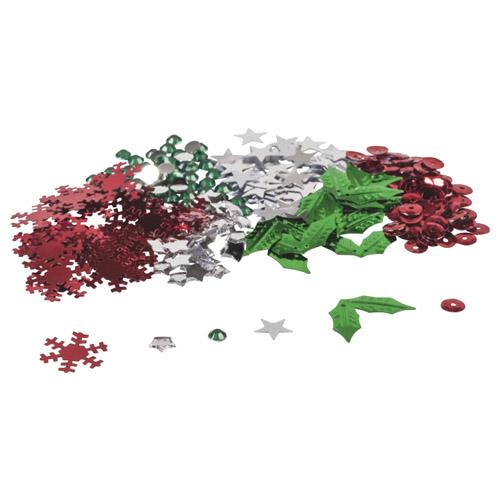 streudeko und bastelset weihnachts mix in rot gr n. Black Bedroom Furniture Sets. Home Design Ideas