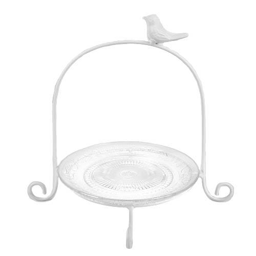 etagere-vintage-mit-einer-ebene-glasteller-und-vogelchen-24-cm