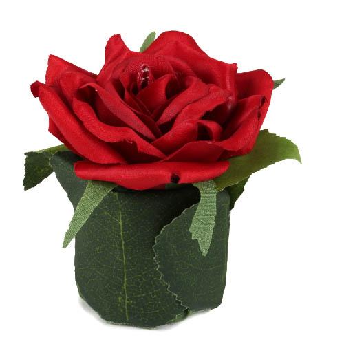 kunstblume-rosenkopf-im-blattertopfchen-in-rot-80-mm