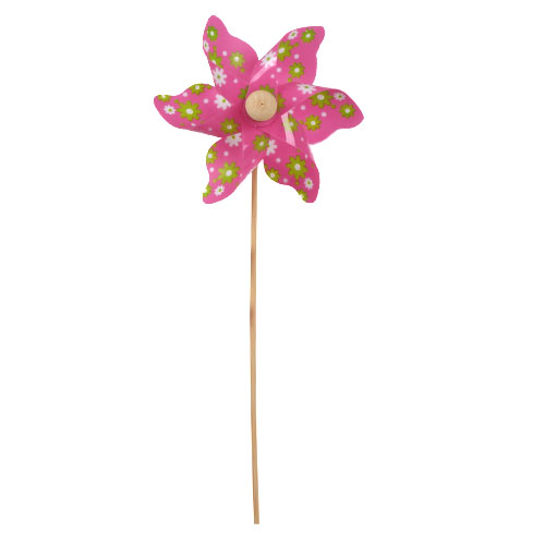 Windrad Pick, Blumen in Pink, 28 cm