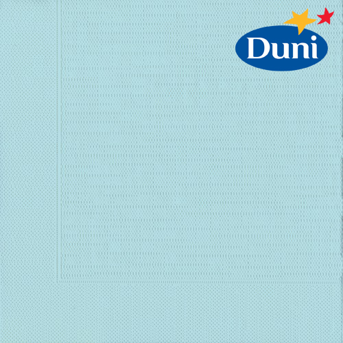 Duni Klassik Servietten in Mint Blue, 40 x 40 cm.