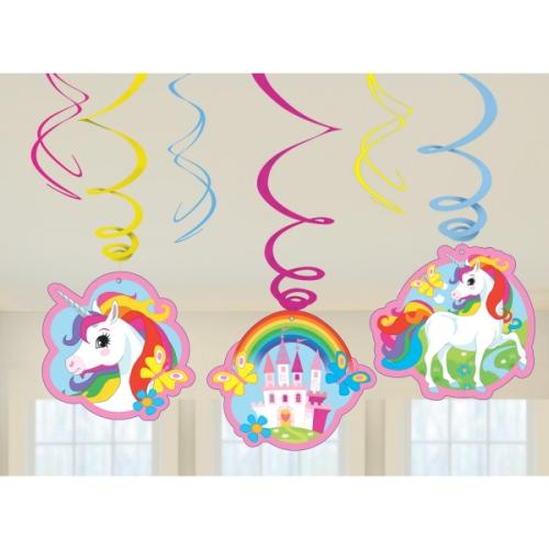 6-tgl-kindergeburtstag-raumdeko-spiralen-set-einhorn