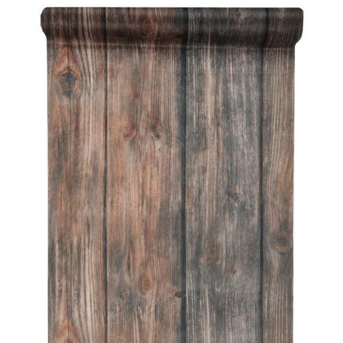 Tischläufer Rustikal 5 meter vlies tischläufer holz optik in braun 30 cm tafeldeko