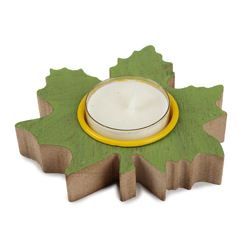 holz-teelichthalter-ahornblatt-in-grun-10-cm