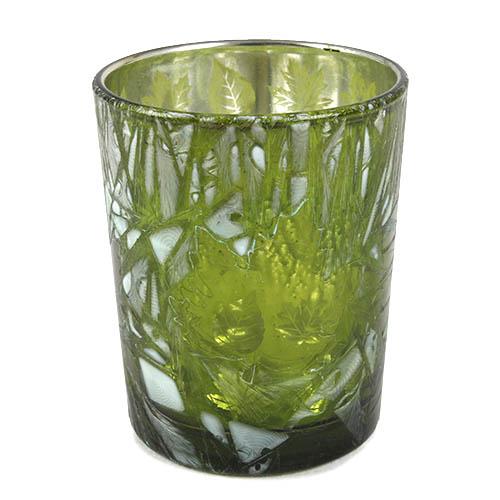 kleines-teelichtglas-herbst-blatter-in-grun-verspiegelt-68-mm