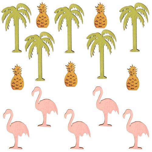 15-holz-streuteile-flamingo-palme-ananas-23-45-mm