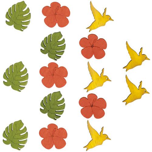 15-holz-streuteile-kolibri-monsterablatt-hibiskusblute-30-35-mm