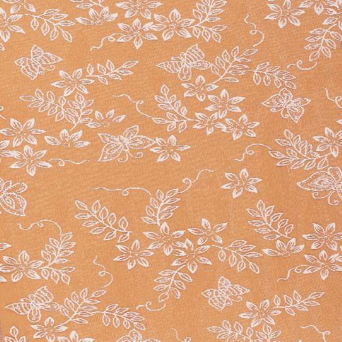 Tischläufer Schmetterling in Orange, beflockt