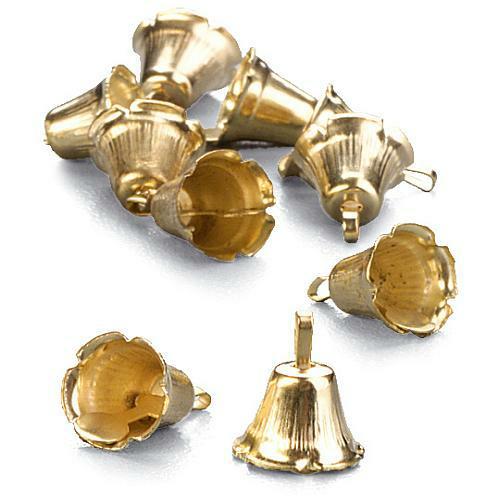 24er pack streudeko weihnachten gl ckchen in gold 10 mm. Black Bedroom Furniture Sets. Home Design Ideas