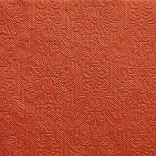 15er Pack Servietten Elegance orange, 33 x 33 cm.