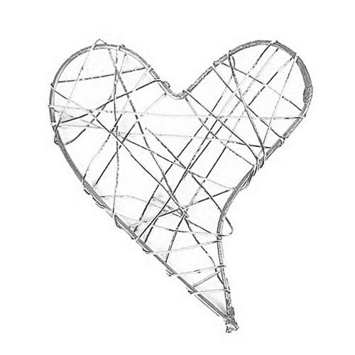 Draht Herz geschlossen in Silber | Tafeldeko.de