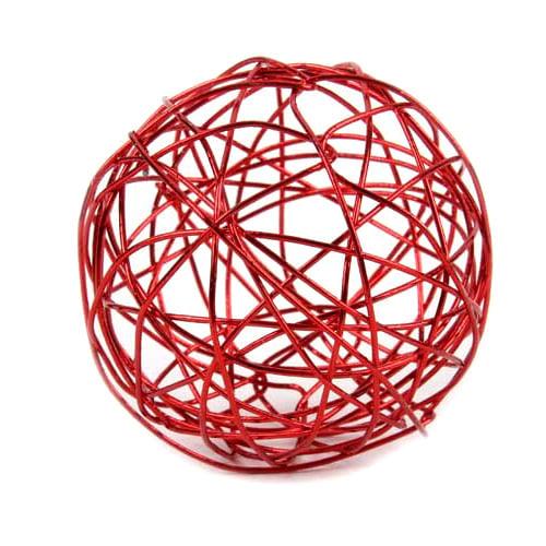 Drahtkugel in rot for Tafel deko