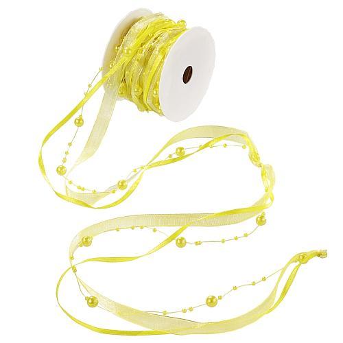 10-meter-trendy-perlen-tischband-in-gelb