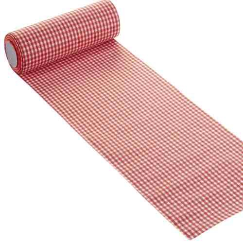 10 Meter Karo Tischband In Rot Tafeldeko De