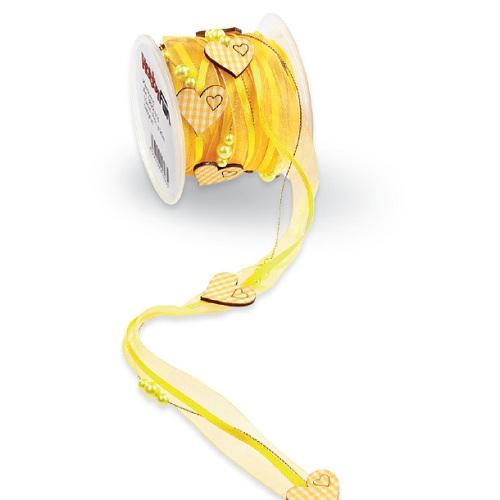 5-meter-trendy-tischband-mit-karo-herzen-in-gelb