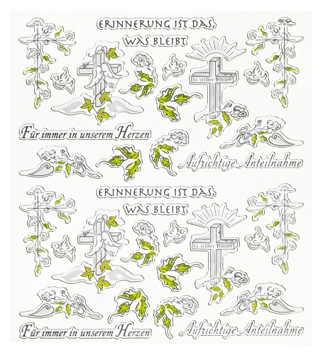 Sticker Aufrichtige Anteilnahme Mit Sprüchen Und Kirchlichen Motiven