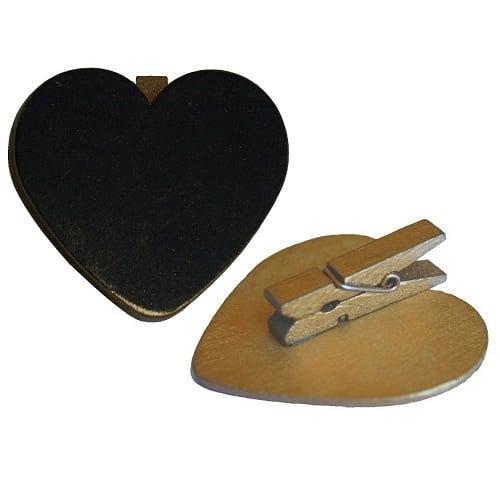 6er pack doppelherzstreu in gold oder silber for Tafel deko