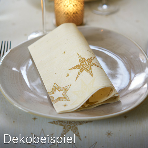 Dekobeispiel - Duni Star Stories Cream