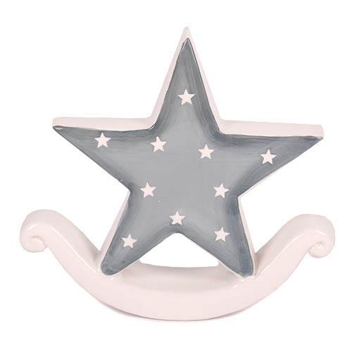 Stern Weihnachten.Keramik Stern Mit Sternchen Weihnachten In Grau Weiß 12 5 Cm