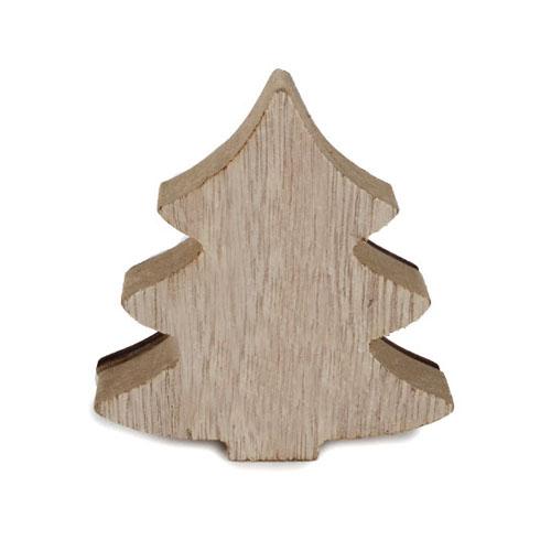 kleiner holz tannenbaum winter harmonie design in hellbraun wei 80 mm. Black Bedroom Furniture Sets. Home Design Ideas
